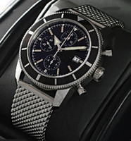 Wholesale Luxury Superocean Heritage Men s Chronograph Wrist Watches Black Mens Sport Watches A1332024 B908