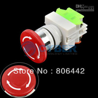 Wholesale New Emergency Stop Switch Push Button Mushroom Push Button Switch TK0325