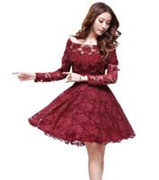 Wholesale Dress hot sale lace Dress for women Fashion Casual lady long sleeved Princess Slim fiber quality Dance party dress