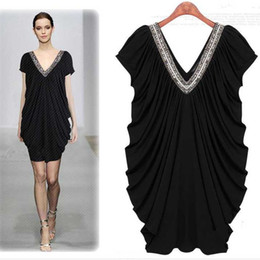 Wholesale 2013 New fashion ladies dress V neck slim summer dress western style plus size women s clothing