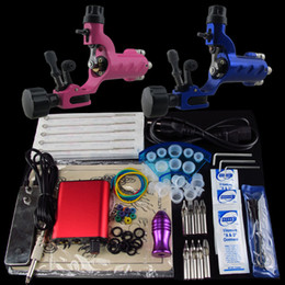 Wholesale Beginner Tattoo Kit Dragonfly Machine Gun Power Supply Foot Pedal Needle Grip Tip