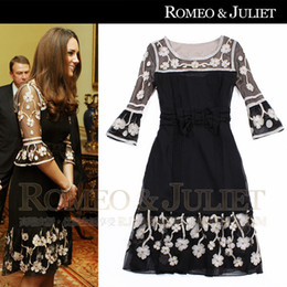 Wholesale 2013 Hot sale western style elegant dress princess Kate embroidery bead dress women s clothing