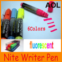 Wholesale Multi color Art Paint Set window marker nite writer high lighter pill pen fluorescent writing board