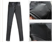 Leggings  Other Capris Fashion Leather Leggings Shiny Pants Lady Sexy Tights Pencil Skinny Pants High Waist Woman Trousers