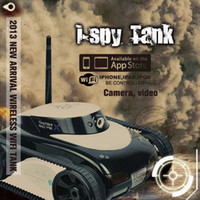 Wholesale Wi fi RC Tank I Spy CH Camera Real Time Transmission Wireless for iphone ipad ipod HOT selling