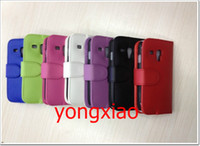 For Samsung Leather White Leather Case For Samsung Galaxy S3 mini I8190 Wallet Credit Card Book Cover 50pcs mix order