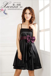 Lady Knee-Length Bridesmaid Spaghetti Strap Asymmetrical gown Party Evening Cocktail Dress