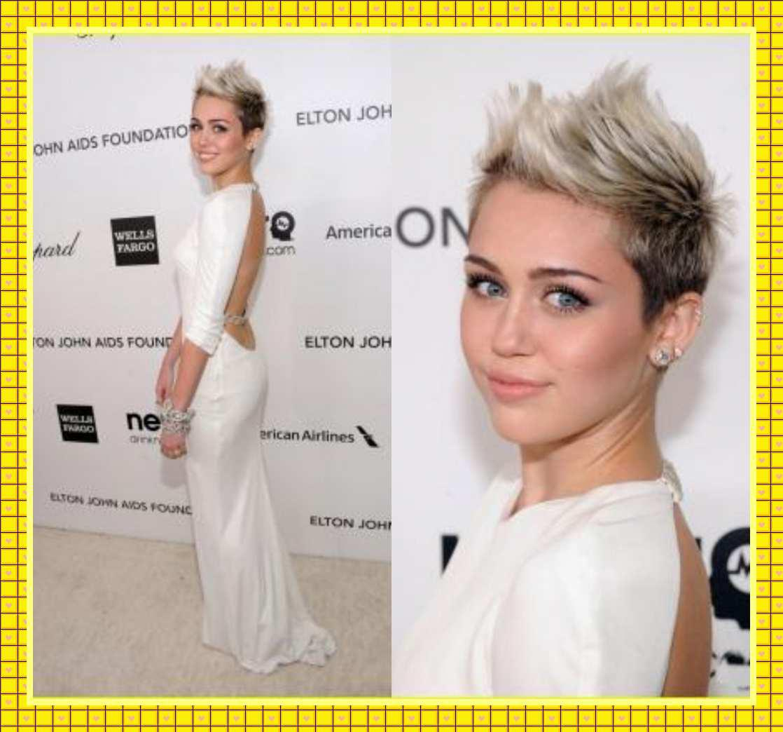 Miley Cyrus Oscar Red Carpet Party 2013 Dress White Sheath ...