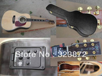 Wholesale HOT new style D45 Cream colored Acoustic Guitar with Fisherman pickup with hardshell case
