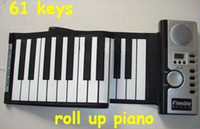 Wholesale New arrival Keys Roll piano keyboard Musical Instrument with LCD Roll up soft Digital