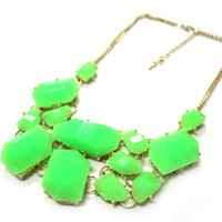 Wholesale Free ship new Fashion K gold plated Acrylic bubble bib statement necklace Chorker Chain pendant