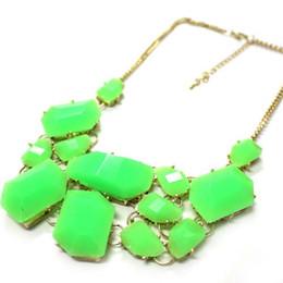 Free ship new Fashion 14K gold plated Acrylic bubble bib statement necklace Chorker Chain pendant