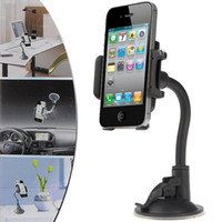 Wholesale Flexible Stand Cradle Bracket car Holder Trestle Supporter with Sucker for iPhone PSP PDA MP4