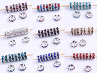 Wholesale Basketball Wives Rhinestone Round Spacer Crystal Finding Beads mm