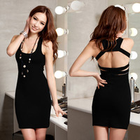 Wholesale New Fashion For Women s Tony Party Sexy Dress Retail Three color For Ch