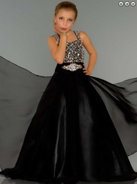 new Girl's Pageant Dresses Beautiful pageant dress Stunning Sugar Long Rhinestone Covered Little Girl Pageant Gown