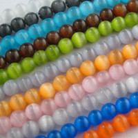 Wholesale Cat Eye Gemstone Round Loose bead Color mm mm mm