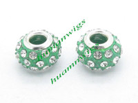 Wholesale 20pcs New Popular mmx9mm Big Hole Rhinestone Alloy Core Beads Fit European Bracelets LZC0024