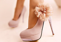 Wholesale Sexy Luxury Romantic Flower Women s Platform Pumps Stilettos Wedding High Heels