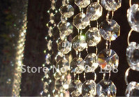 Wholesale 14MM wedding garland crystal prism bead chain christmas tree crystal strand hung strung feet