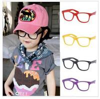 Wholesale Children s glasses Frame Fashion baby girls eyeglasses sunglasses without lenses super light and lovely Frame Glasses Muti color