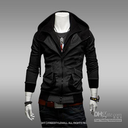 Wholesale Hot sale New men s Jacket Slim Korean Spring clothes Fashion Hooded Cardigan Sweater Outerwear