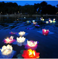 Fire Water Lotus Paper Lanterns Chinese Wishing Floating Lan...
