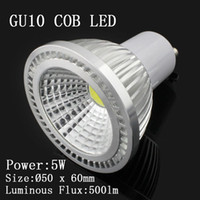 Wholesale New Arrive GU10 COB led lampS light W Dimmable LED Bulb Lamp V
