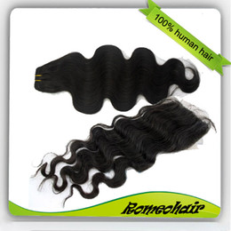 Wholesale Queen pc Lace Closure Body wave Hair Weft Brazilian Virgin Hair