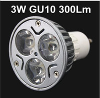 Wholesale 3x1W V GU10 W Warm White Cool White LED Light Lamp Bulb Spotlight Ceiling light Lm