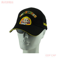 Wholesale Gdp vr46 multicolour letter pattern motorcycle hat automobile race sports baseball cap quality