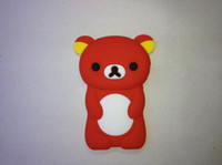 Wholesale Cartoon Rilakkuma Bear Silicon case cover for iPod Nano7 Nano soft case free DHL