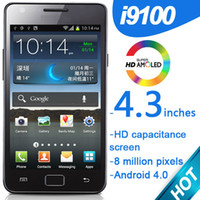 Wholesale I9100 smartphone inches HD screen Android MTK6573 million pixels