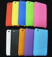 Wholesale Mixed Color Mesh Net Hard Cover Case For iphone G GS i9 Sciphone I9