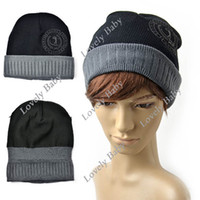 Wholesale Fashion Korean Knitted hat Skull Cap Beanies Snow Winter Warm Ski Knit Hat Black