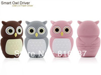 Wholesale 10pcs beautiful and cute cartoon silicon owl GB GB GB USB flash drive prices free t