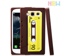 Wholesale 1 Sample Trail Cool CD Tape Design Hard Case Cover Skin for Samsung Galaxy S3 S III i9300