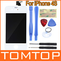 Wholesale White Replacement LCD Touch Screen Digitizer Glass Panel amp Opening Tools set for iPhone S PA1379W