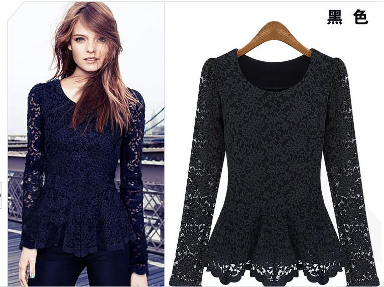 2013 New Dress Women Lace Vintage Long Sleeve Dresses Xxl Summer ...