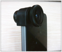 Wholesale 3 in Lens fish eye fisheye wide angle macro Camera Lens for iPhone G S Black Red blue