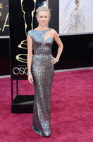 Wholesale Naomi Watts th Oscar Annual Academy Awards Red Carpet Sequins Celebrity Dresses Asymmetrical Strap