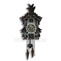 Wholesale High end Solid Wood Hand carved Cuckoo Clock Wall Clock Bird Reported Clock Living Room Wall Clocks