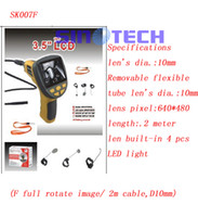 Wholesale SK007F F full rotate image m cable D10mm snake endoscope borescope