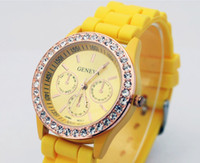 Wholesale Hot Geneva lady Luxury candy women Jelly Silicone Wristwatch Children dive Unisex Watch men watches
