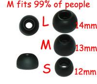 Wholesale FreeShip Pairs S M L Silicone In Ear Earphone Headset Earbud Bud Tips Ear buds Eartips Earplug