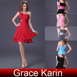 Wholesale Retail Short Formal Party Gown Girl Homecoming Dress With Sash CL1004