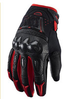 Wholesale New Motorcycle motorbike racing gloves leather gloves Bomber gloves black and red motor glove M L XL