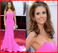 Wholesale Mermaid Sewwtheart Simple Sleeveless Maria Menounos Oscar Awards Red Carpet Celebrity Dresses