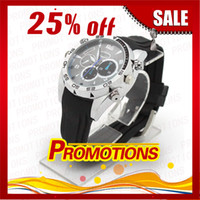 Wholesale 6PCS Watch Camera Waterproof Watch Camera P IR Night Vision GB Spy Hidden Camera SC335