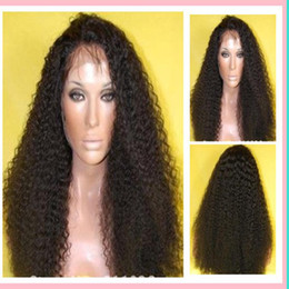 Wholesale top quality Kinky Curly Front Lace Wig With Baby Hair Brazilian Virgin Human Hair Wigs